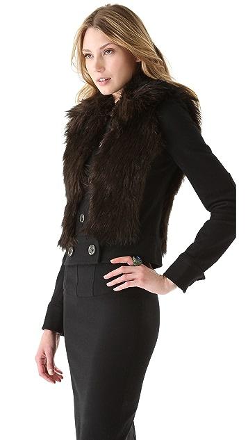 Rachel Zoe Zoe II Faux Fur Jacket