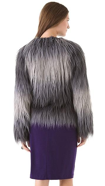 Rachel Zoe Brooklyn Ombre Faux Fur Coat