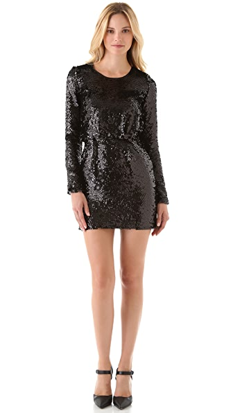 Rachel Zoe Selita Blouson Sequin Dress