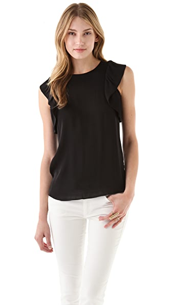 Rachel Zoe May Ruffle Sleeve Top