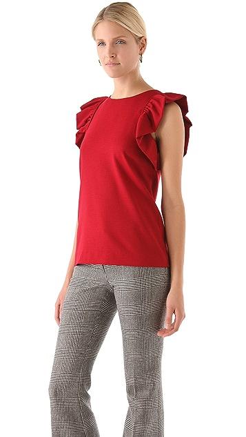 Rachel Zoe May Ruffle Sleeve Top