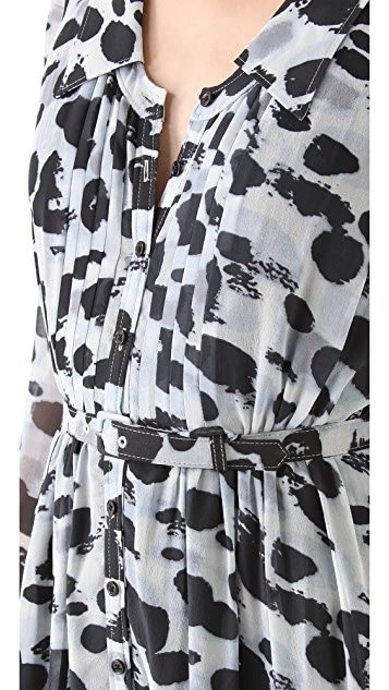 Rachel Zoe Devon Pintuck Shirtdress