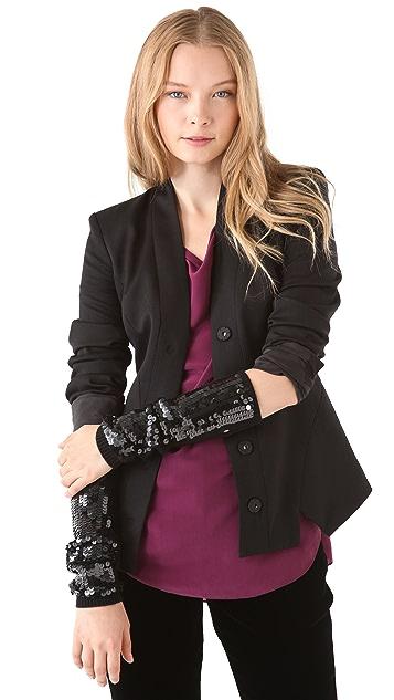 Rachel Zoe Sequin Arm Warmers