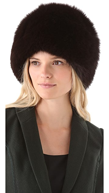 Rachel Zoe Fox Fur Hat
