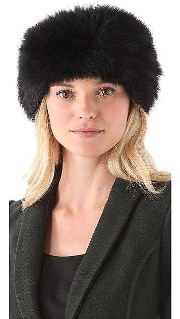 Rachel Zoe Fox Fur Head Wrap