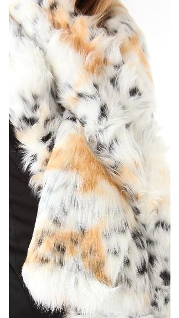 Rachel Zoe Snow Leopard Pull Through Scarf