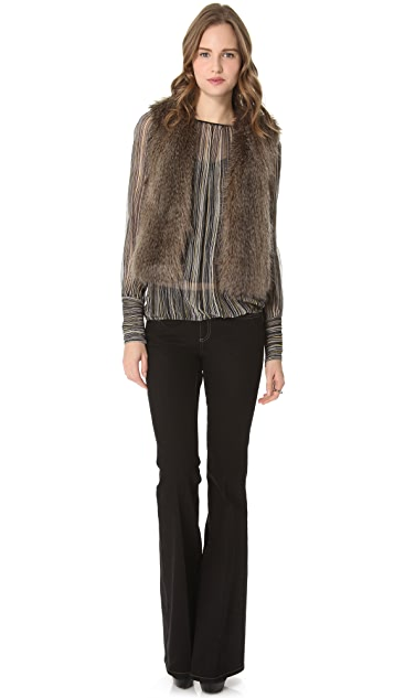 Rachel Zoe Sabina Ruched Zipper Top