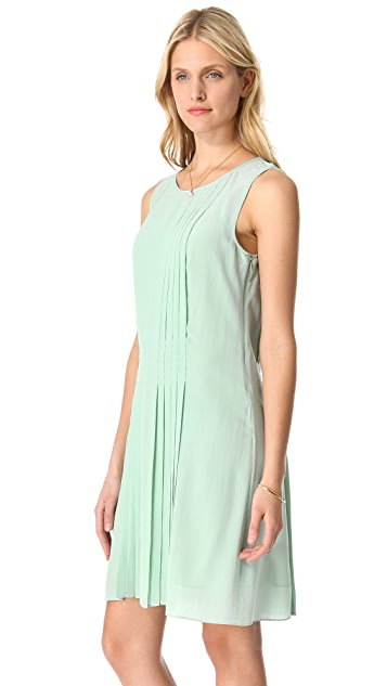 Rachel Zoe Karlie Pleated Shift Dress