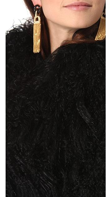 Rachel Zoe Tubular Fur Scarf