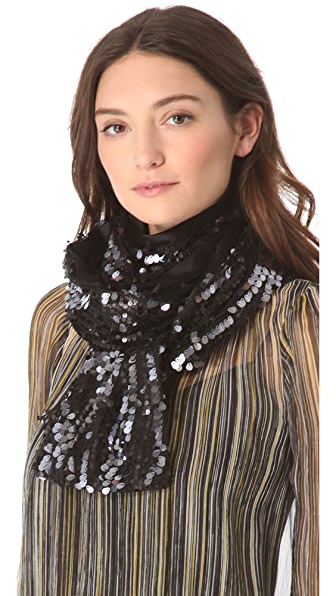 Rachel Zoe Long Sequined Scarf