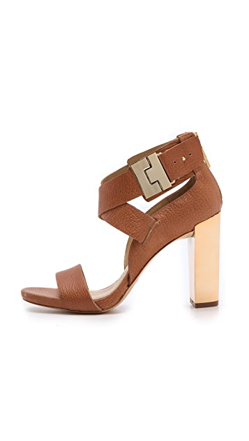 Rachel Zoe Brooklyn Metallic Heel Sandals