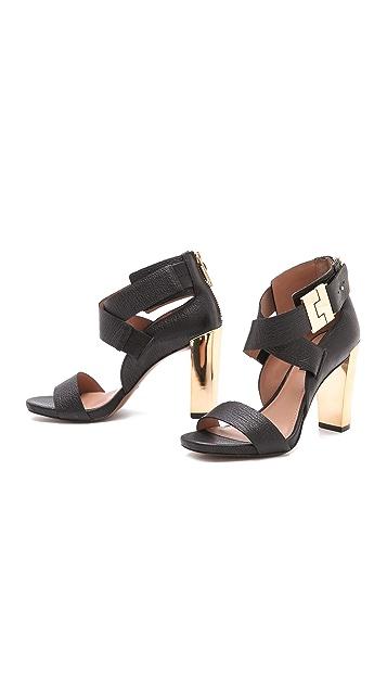 Rachel Zoe Brooklyn Metallic Heel Sandals