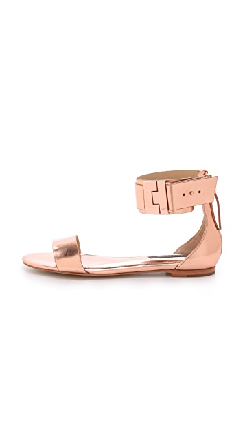 Rachel Zoe Gladys Metallic Leather Sandals