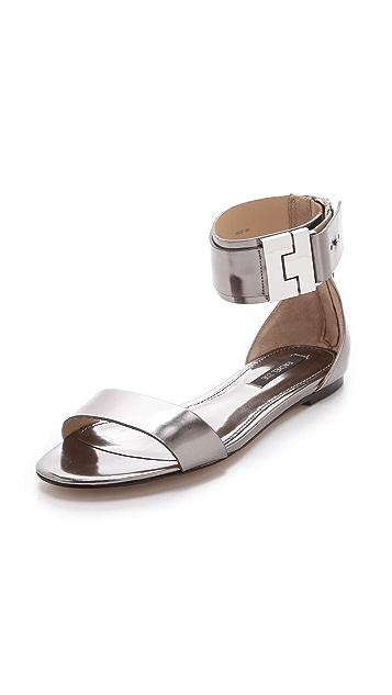 Rachel Zoe Gladys Metallic Leather Sandals
