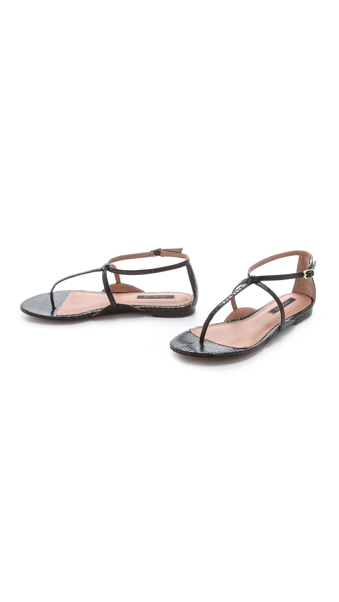 999449f7a Rachel Zoe Gwen Snakeskin Sandals