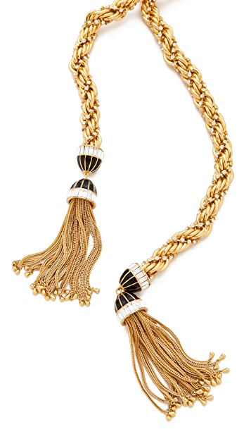 Rachel Zoe Long Tassel Necklace