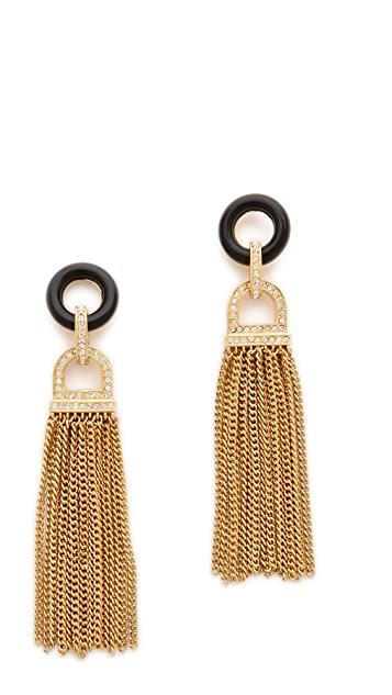 Rachel Zoe Onyx Tassel Earrings