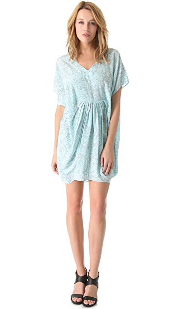 Rachel Zoe Giles Pleated Caftan Dress