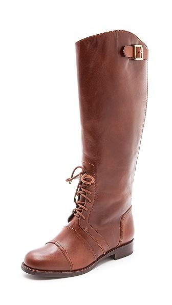 Rachel Zoe Georgia Lace up Army Boots
