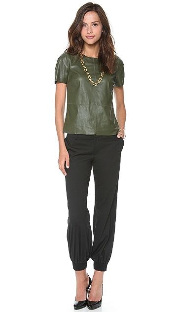 Rachel Zoe Janette Leather Blouse