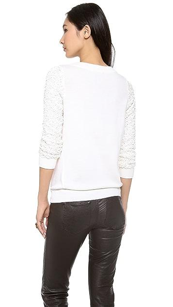 Rachel Zoe Presley Sequin Sleeve Sweater