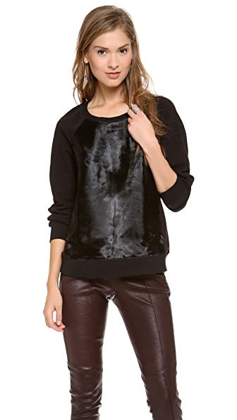 Rachel Zoe January Haircalf Sweatshirt