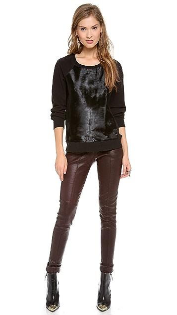 Rachel Zoe January Haircalf Sweatshirt