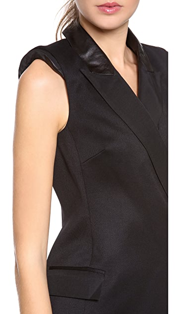 Rachel Zoe Cambridge Tux Dress with Leather