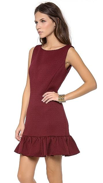 Rachel Zoe Aurora Seamed Ruffle Dress