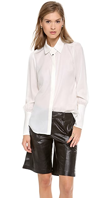 Rachel Zoe Emmanuel Bishop Sleeve Blouse