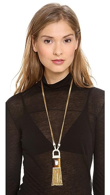 Rachel Zoe Tassel Pendant Necklace