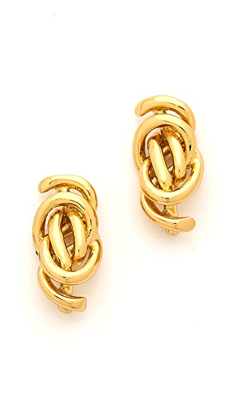Rachel Zoe Micro Knot Post Stud Earrings