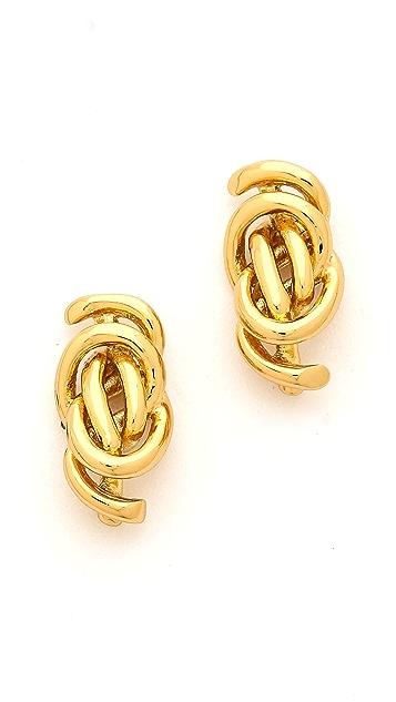 Rachel Zoe Micro Knot Post Stud Earrings