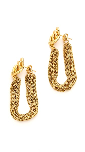 Rachel Zoe Looped Knot Earrings