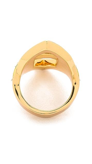 Rachel Zoe Deco Cutout Crystal Ring