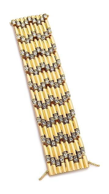 Rachel Zoe Crystal Deco Wide Bracelet