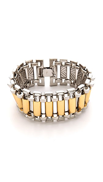 Rachel Zoe Two Tone Narrow Watchband Bracelet