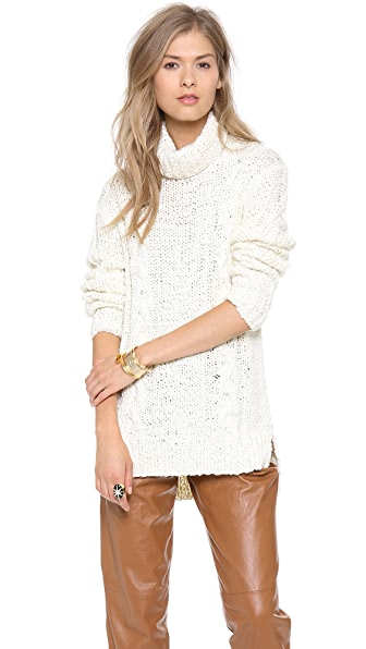 Rachel Zoe Micah Cable Knit Sweater
