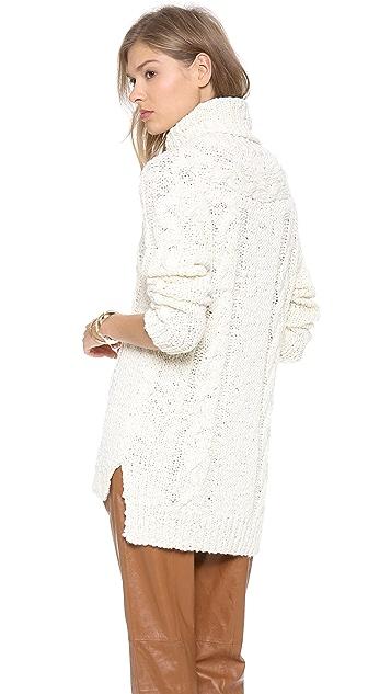 Rachel Zoe Micah Cable Knit Sweater