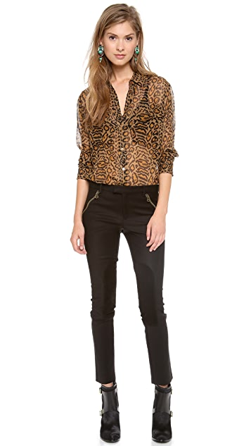 Rachel Zoe Julietta Cropped Riding Pants