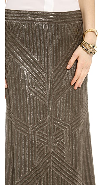 Rachel Zoe Pearl Sequin Fishtail Skirt