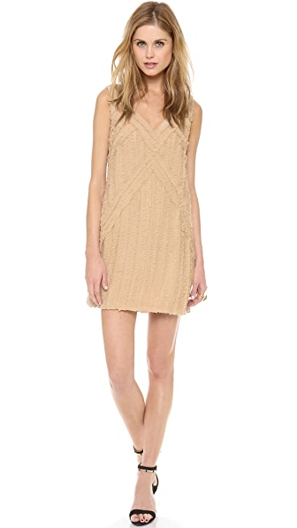 Rachel Zoe Rita Shirred Chiffon Dress