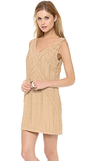 Rachel Zoe Rita Shirred Chiffon Dress