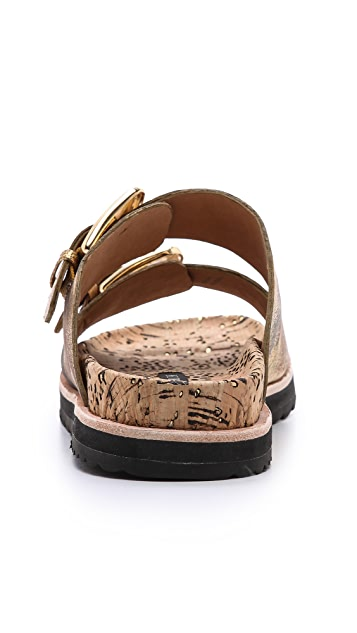 Rachel Zoe Fawn Two Band Flat Sandals