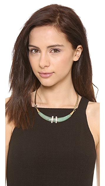 Rachel Zoe Safari Horn Collar Necklace