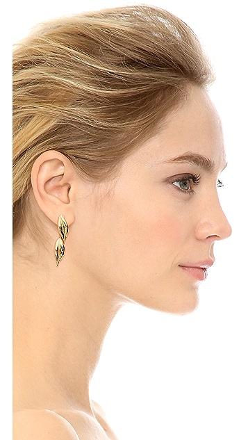 Rachel Zoe Safari Double Leaf Drop Earrings