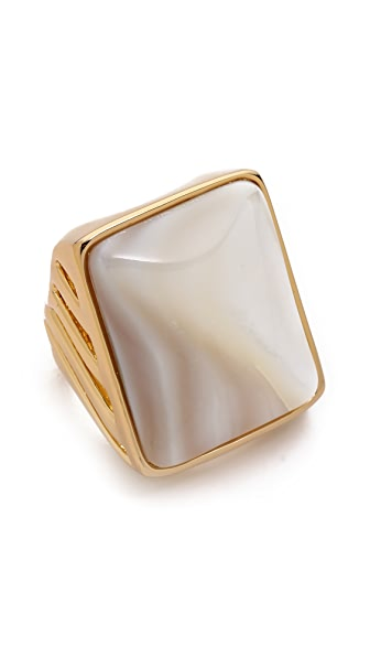 Rachel Zoe Safari Mother of Pearl Rectangle Ring