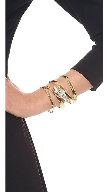 Rachel Zoe Pave Pod Swirl Cuff Bracelet