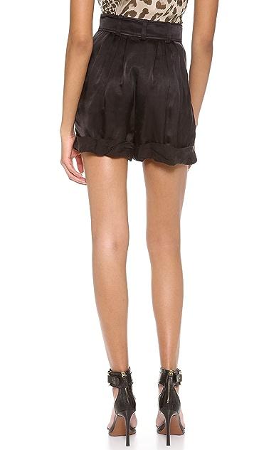 Rachel Zoe Cheyenne Pleated Rolled Shorts