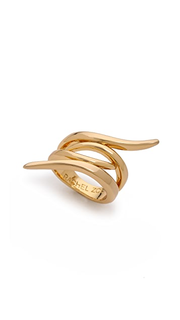 Rachel Zoe Metal Pod Crossover Ring